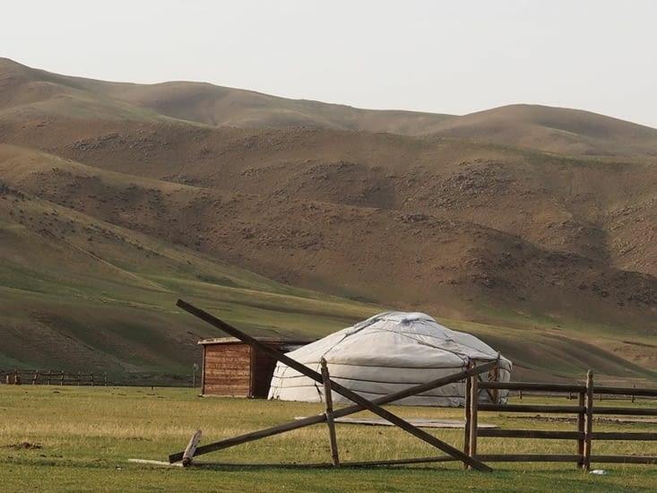 Yourte à l'entrée de la vallée de l'Orkhon