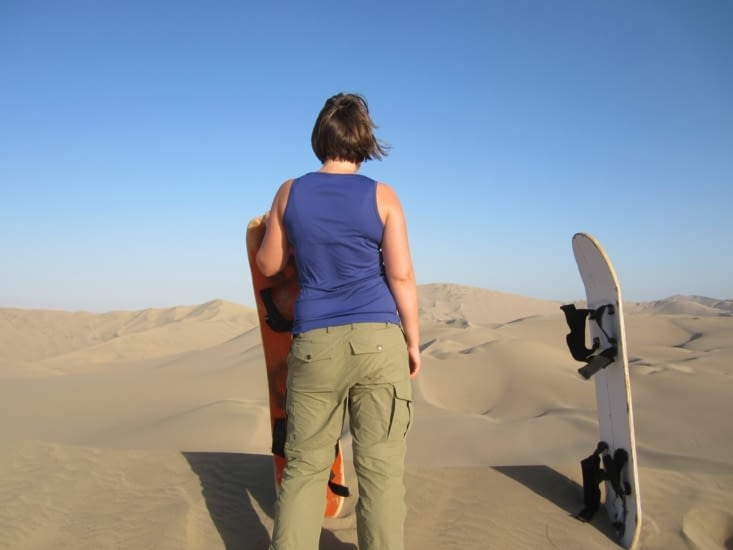Du sandboard sur les dunes de Huacachina pour Yoyo !