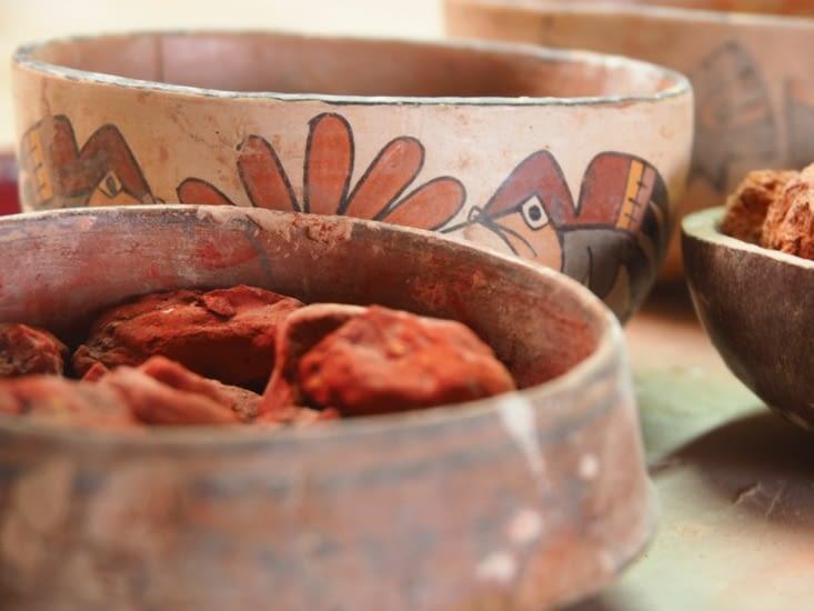 Les pigments 100% naturels utilisés par les Nazcas pour leurs céramiques