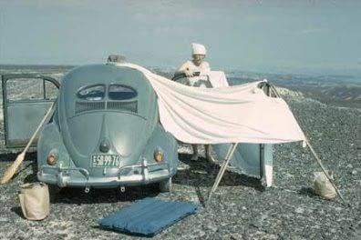 Maria Reiche et son campement dans le désert de Nazca