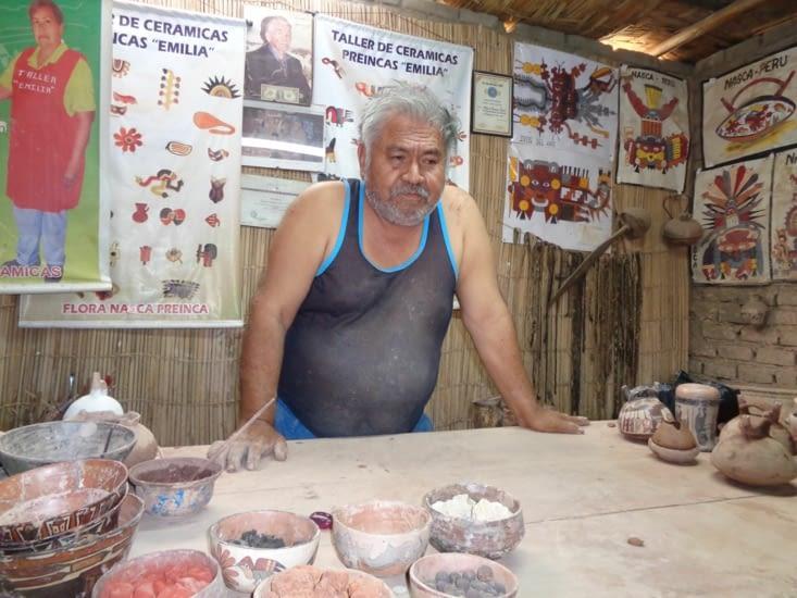 Notre potier, professeur d'un jour - Nazca - Pérou