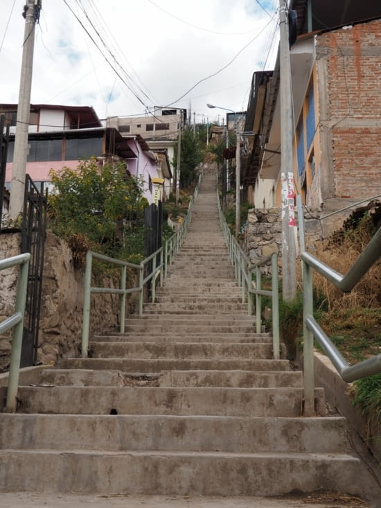 La douloureuse marche vers le sommet de San Blas