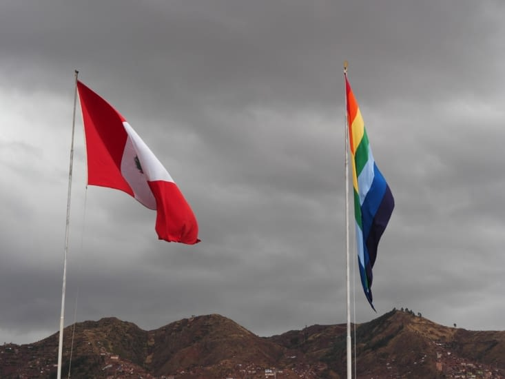Le drapeau péruvien et celui hérité des incas