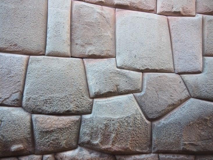 Les fameuses pierres taillées Incas