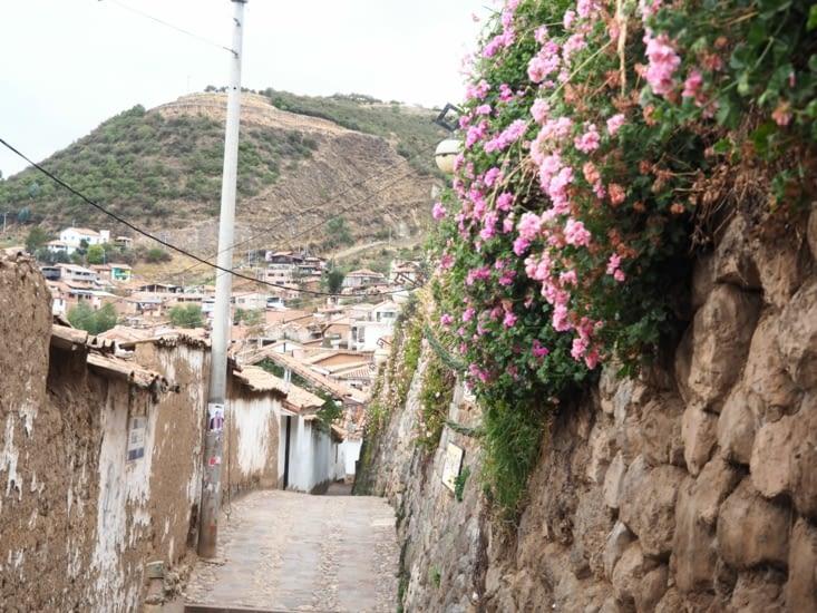 Les ruelles fleuries du quartier de San Blas