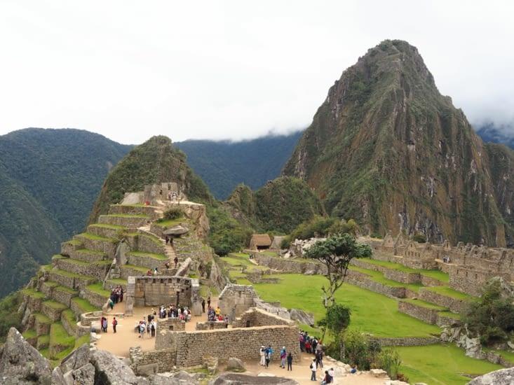 Le Machu Picchu et en fond le Wayna Picchu