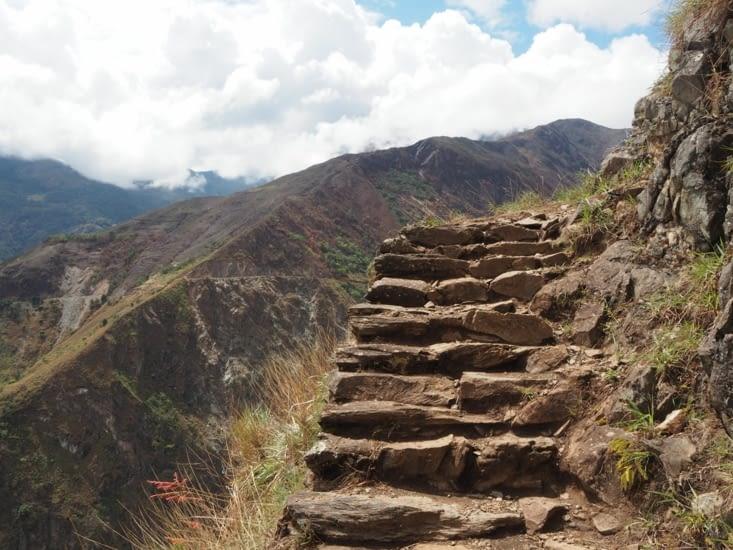 Les marches du chemin de l'Inca