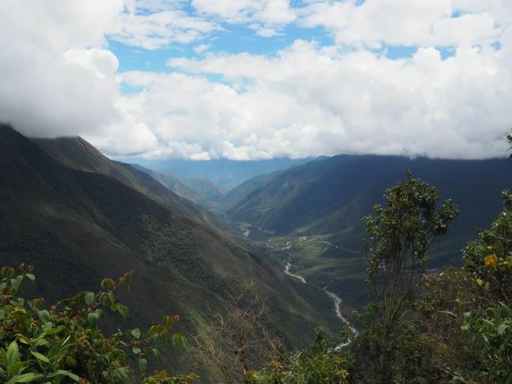 Les panoramas lors de la descente en vélo de l'Inka Jungle Trail