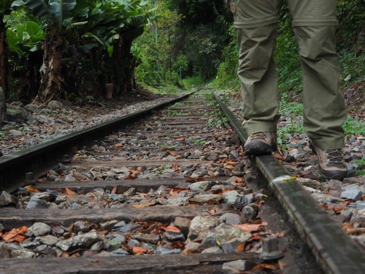 Les rails qui nous rapprochent du Machu Picchu
