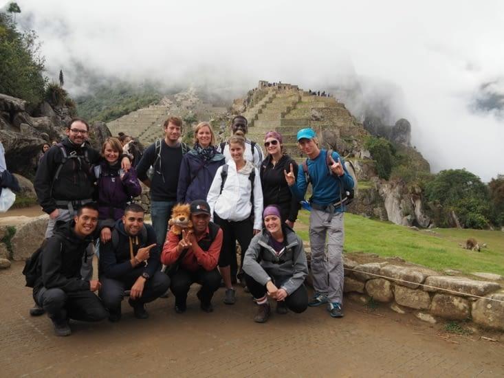 Notre petit groupe au Machu Picchu