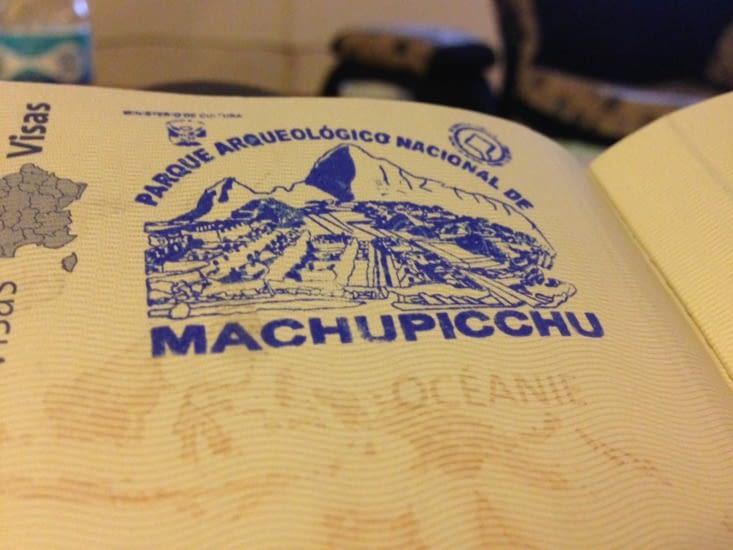 Passeport tamponné : nous avons visité le Machu Picchu