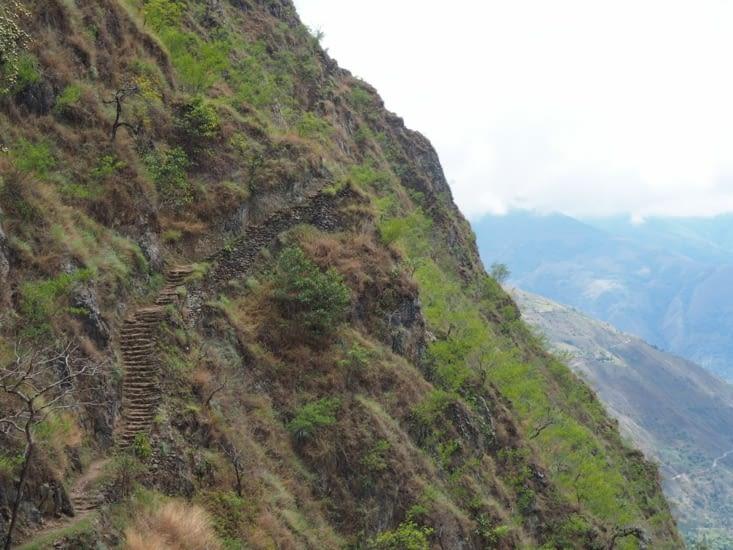 Une portion du chemin de l'Inca