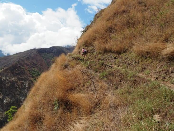 Yoyo parcourant le chemin de l'Inca