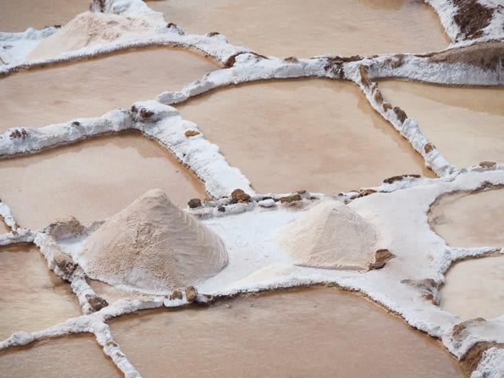 La récolte de sel dans les bassins de Las Salinas