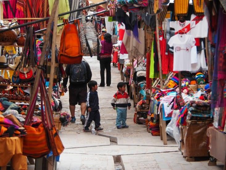 Le marché très coloré de Pisac