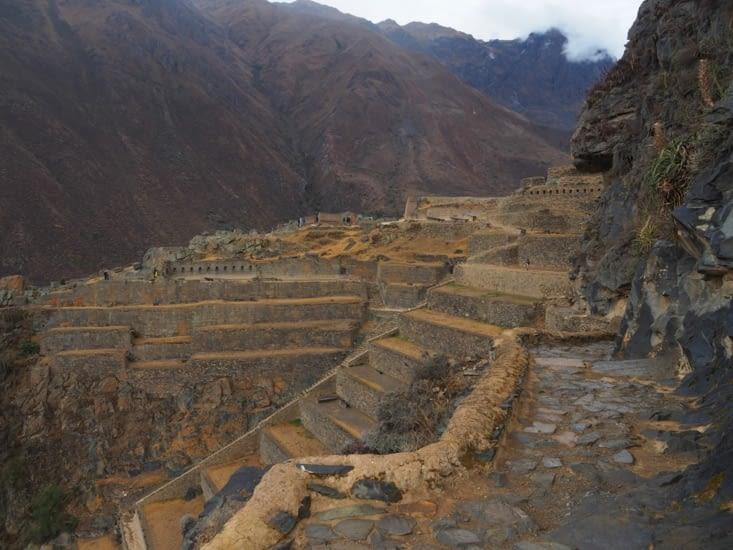 Les terrasses de la forteresse d'Ollantaytambo