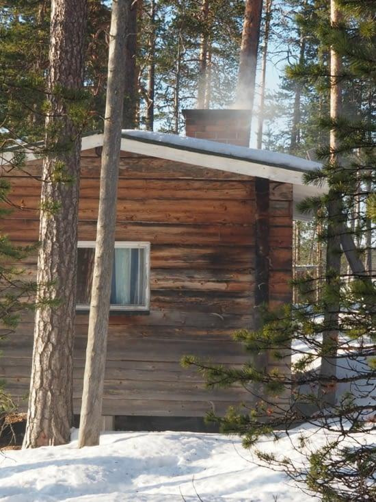 Le sauna chauffe