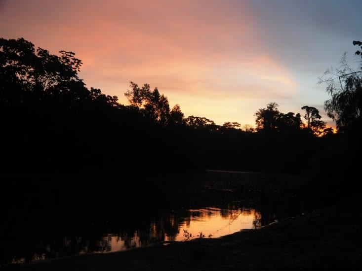 Couché de soleil sur le parc Manu