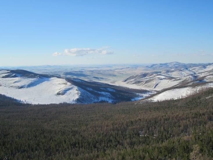 La vue au sommet du monastère