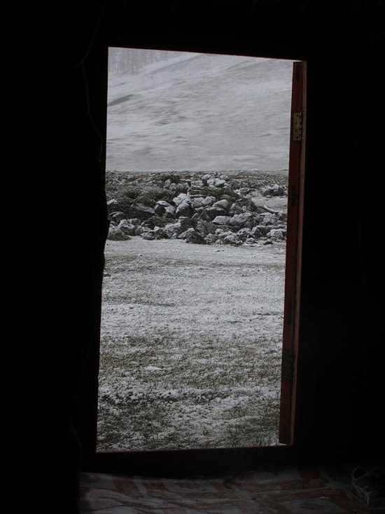 La vue depuis mon lit ce matin