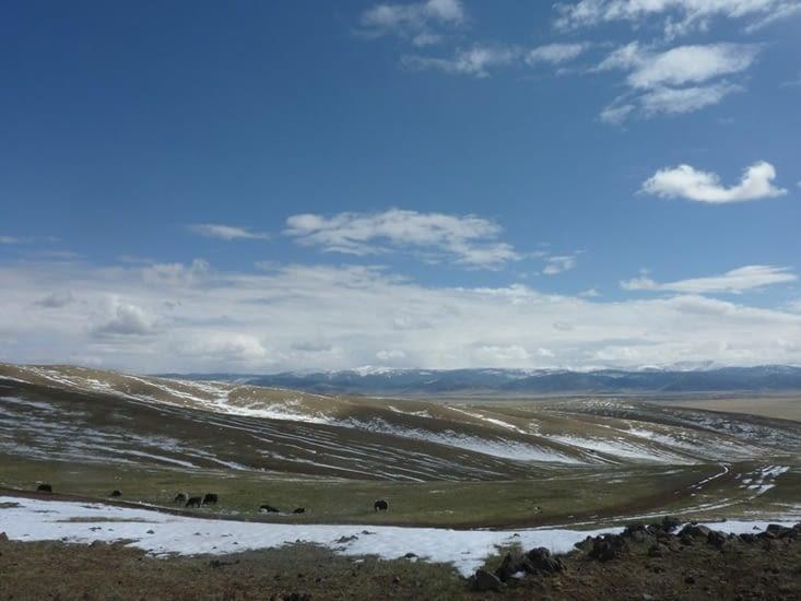 La vue durant l'ascension du premier sommet