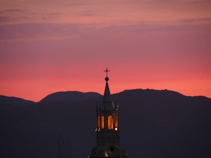 Coucher de soleil sur Arequipa
