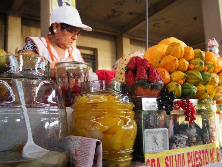 Le stand de jus de fruit
