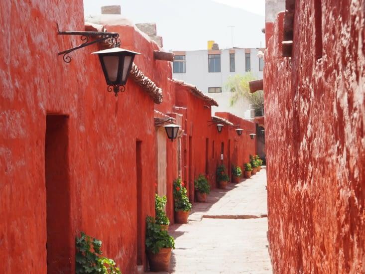 Les ruelles à l'intérieur du monastère Santa Catalina à Arequipa