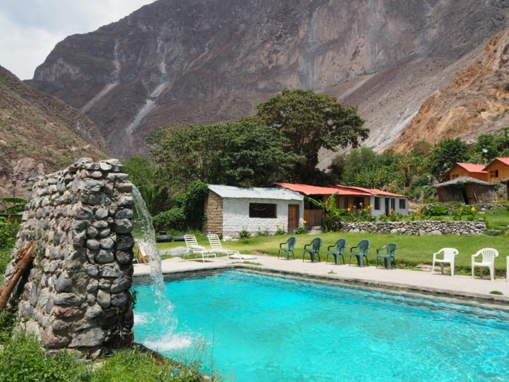 La piscine de notre auberge