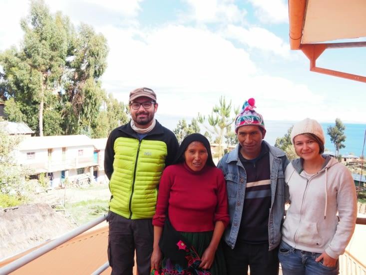 En compagnie d'Ivan et sa femme, du haut de l'ile d'Amantani