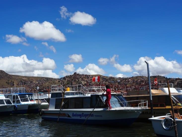 L'embarcadère de Puno