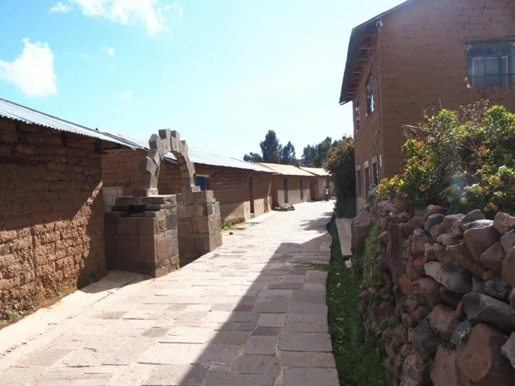 Les petites rues sur l'ile d'Amantani