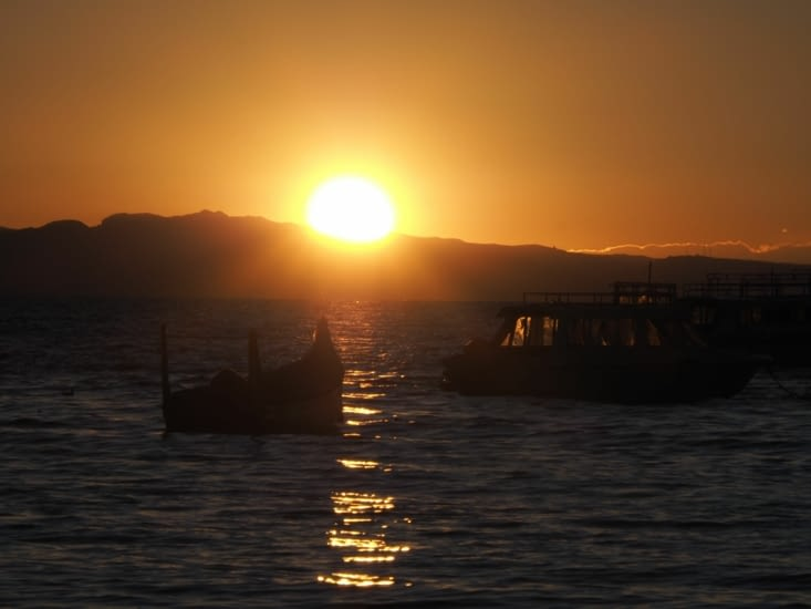 Coucher de soleil sur Copabana