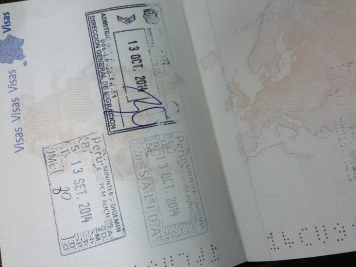 Passeport tamponné, nous pouvons passer en Bolivie
