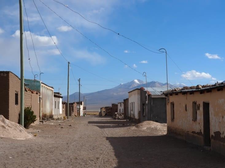 Les rues de la ville de Sajama