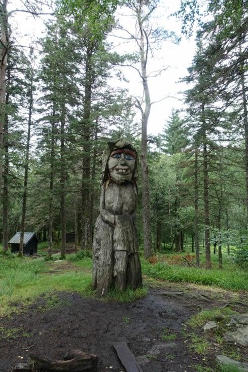 Des trolls de bois rencontrés lors de notre randonnée au dessus de Bergen
