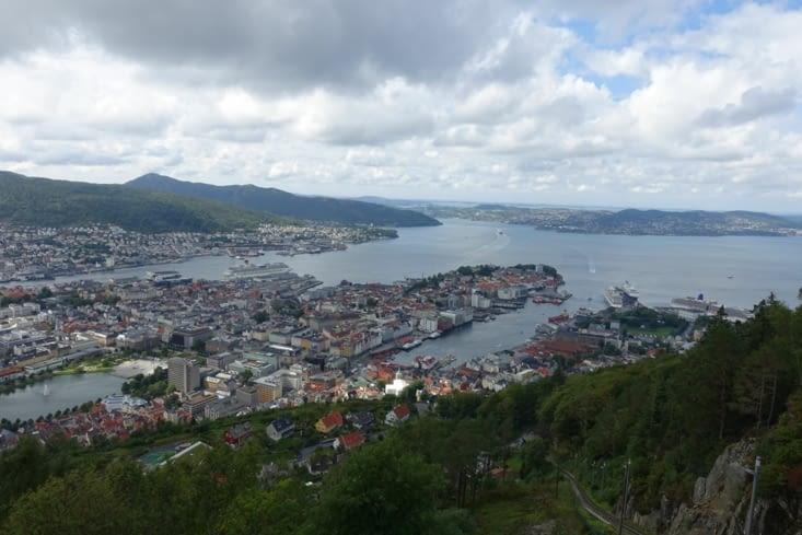 La vue sur Bergen depuis le Floyen