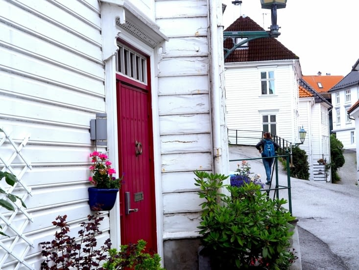 Visite des rues de Bryggen