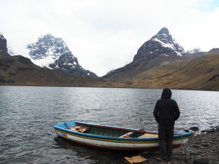 La lagune au pied du Condoriri