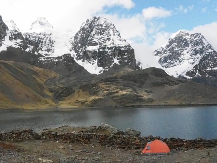 Notre tente au pied du Condoriri