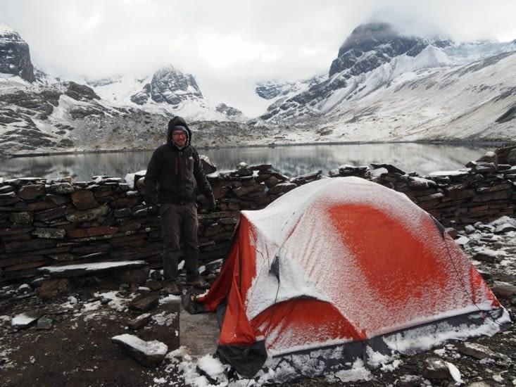 Notre tente au réveil