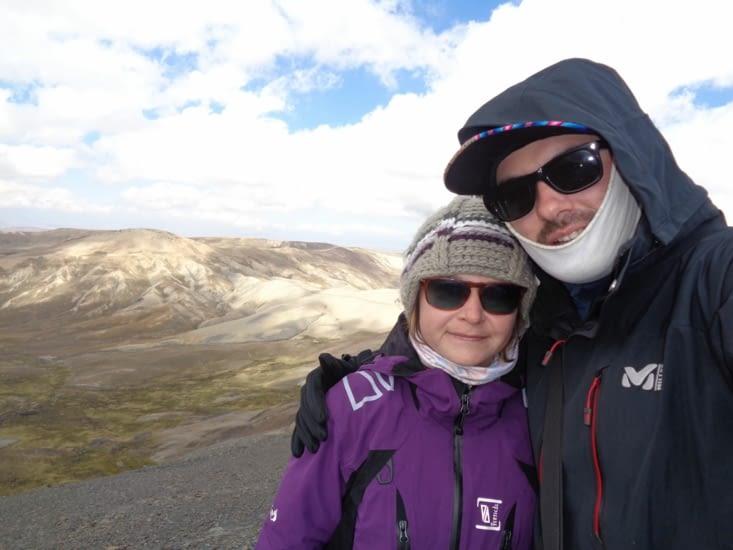 Selfie à notre deuxième sommet à plus de 4900 mètres d'altitude