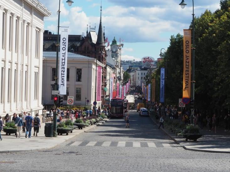 Le centre d'Oslo