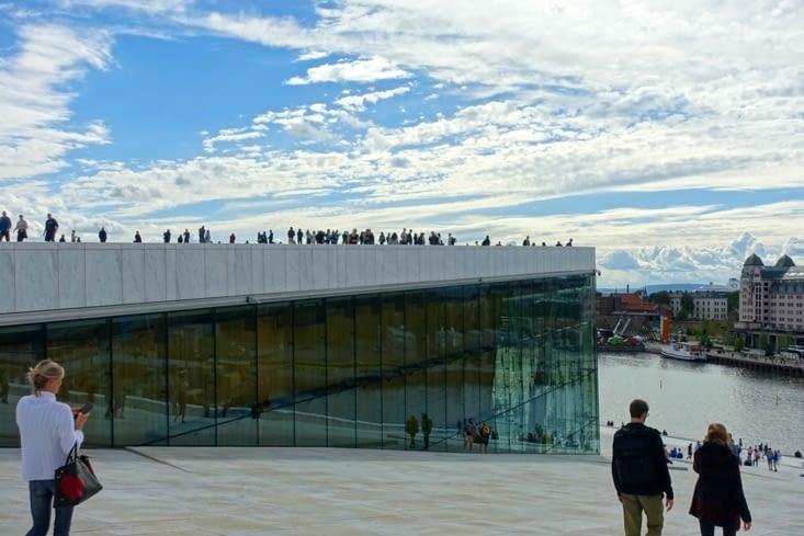Le toit de l'opéra d'Oslo