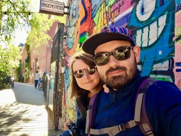 Selfie dans le quartier de grunerlokka