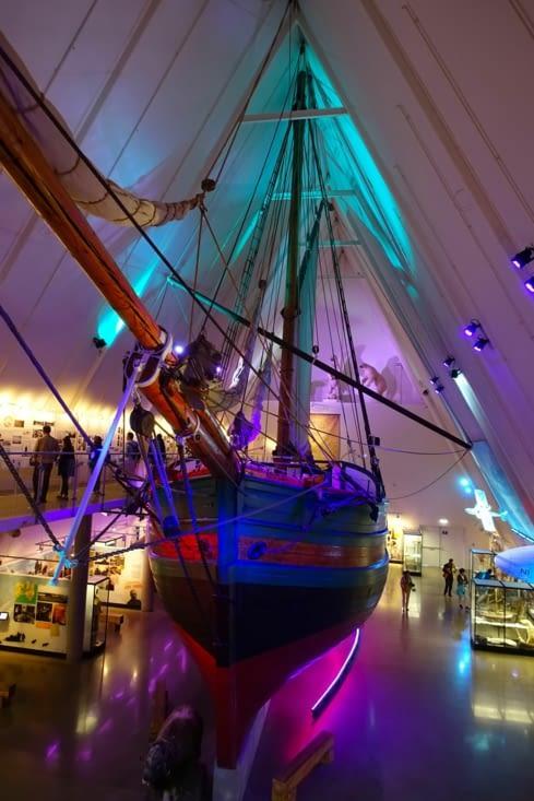 Un authentique bateau d'exploration au musée du Fram