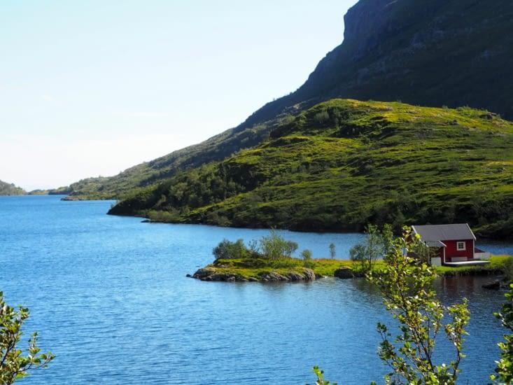 Randonnée autour du lac Ågvatnet