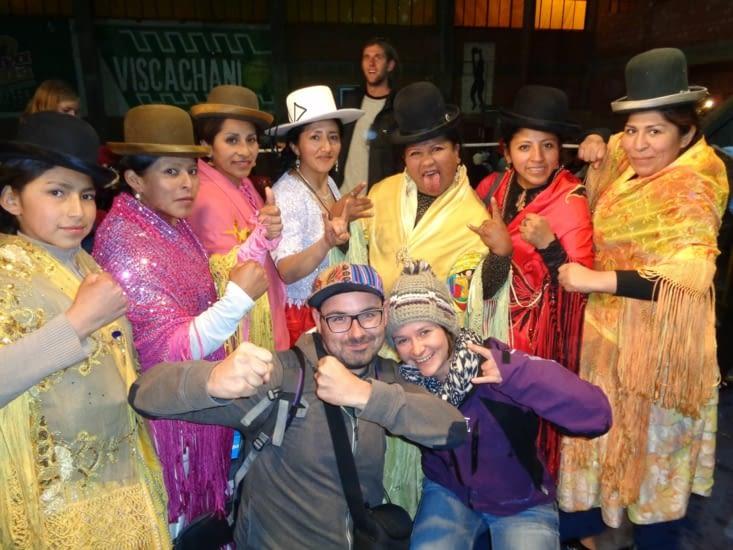 Les cholitas nous accordent une dernière bagarre