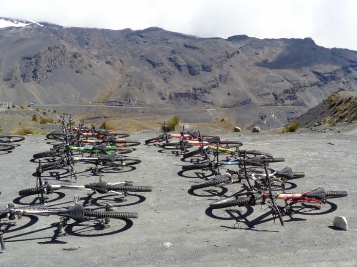 Nos vélos de descente