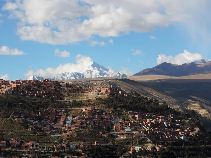 Depuis le sommet de la Paz, le Huayna Potosi (6088m)